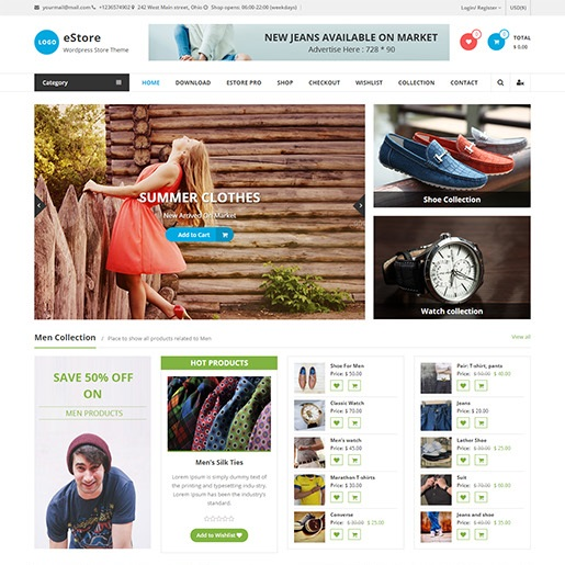 seo wordpress themes estore