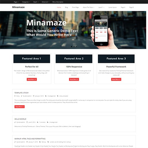 seo wordpress themes minamaze