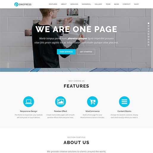 seo wordpress themes onepress