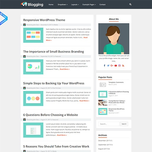 seo wordpress themes vt blogging