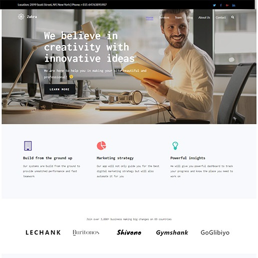 zakra-professional-wordpress-theme