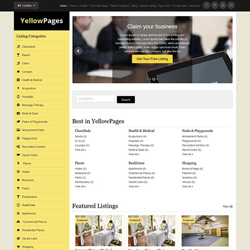 yellowpages-wordpress-directory-theme