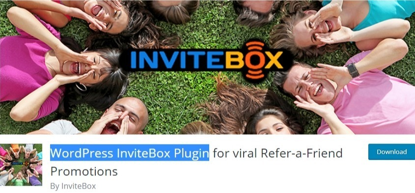 WordPress content plugin - WordPress invitebox plugin