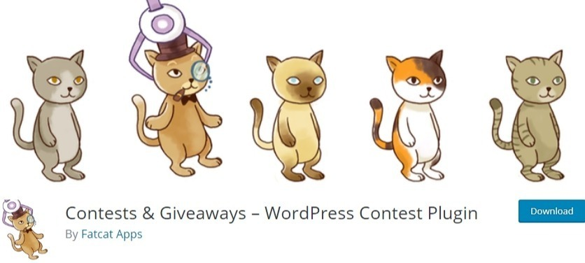WordPress contest plugin - Contest and giveaways