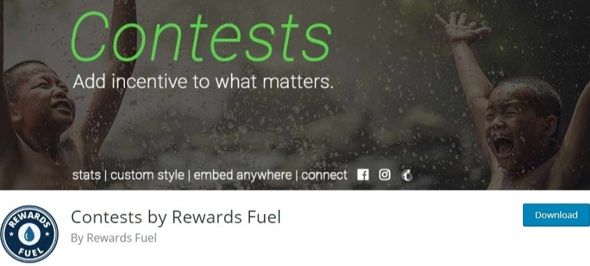 WordPress contest plugin - contests by rewards fuel