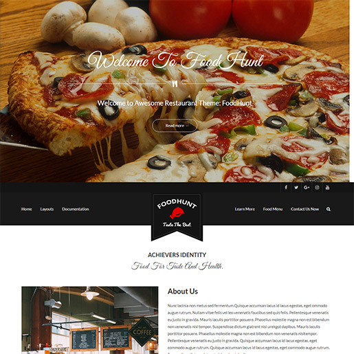 bar wordpress theme - foodhunt