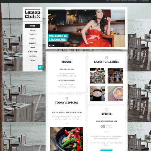 bar wordpress theme - lemonchili