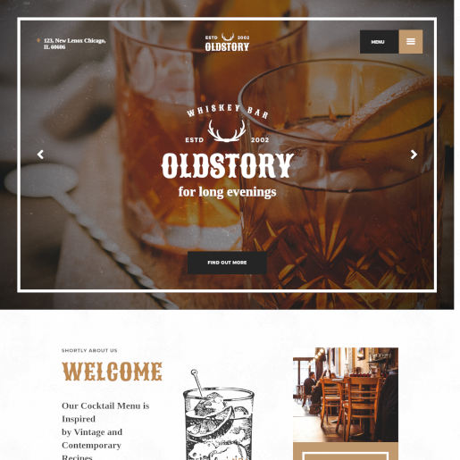 bar wordpress theme - oldstory
