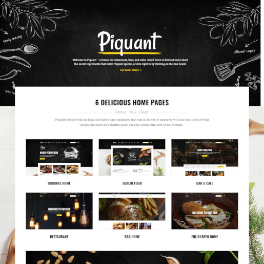 bar wordpress theme - piquant