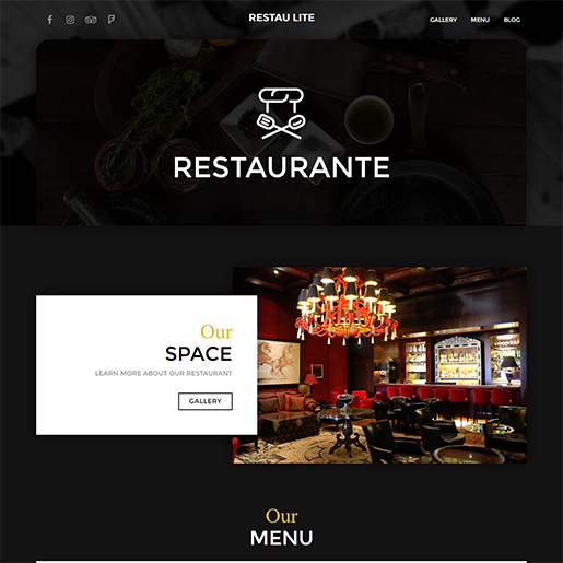 bar wordpress theme - restaurante