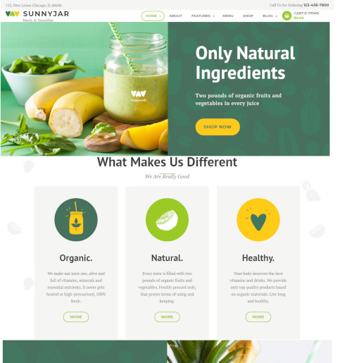 bar wordpress theme - sunnyjar