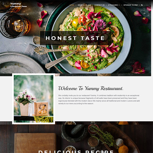 bar wordpress theme - yummy