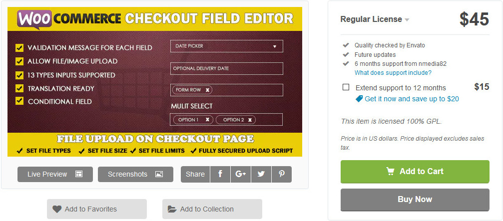 wordpress checkout