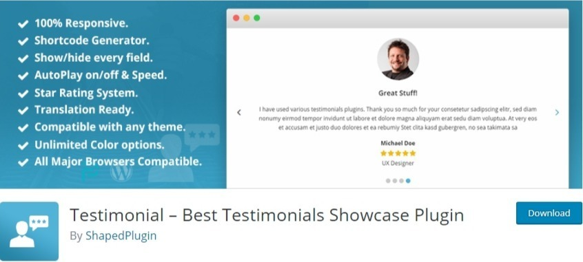 wordpress testimonial slider plugin - best testimonial slider