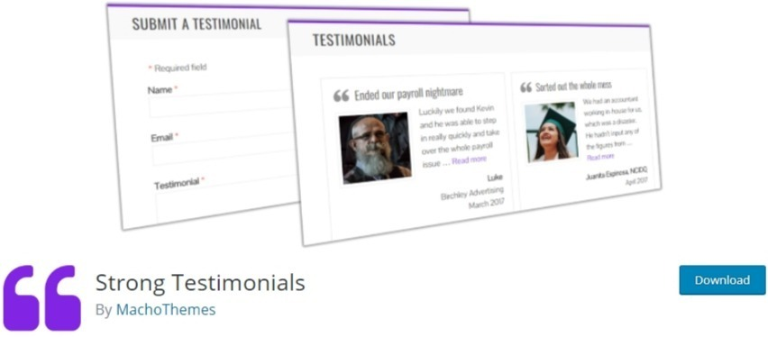 wordpress testimonial slider plugin - strong testimonials