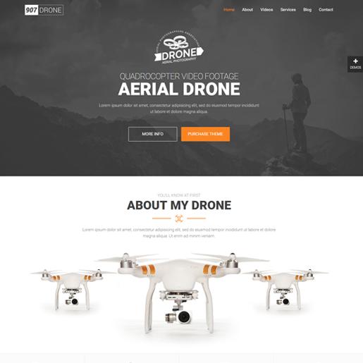 907 wordpress drone themes