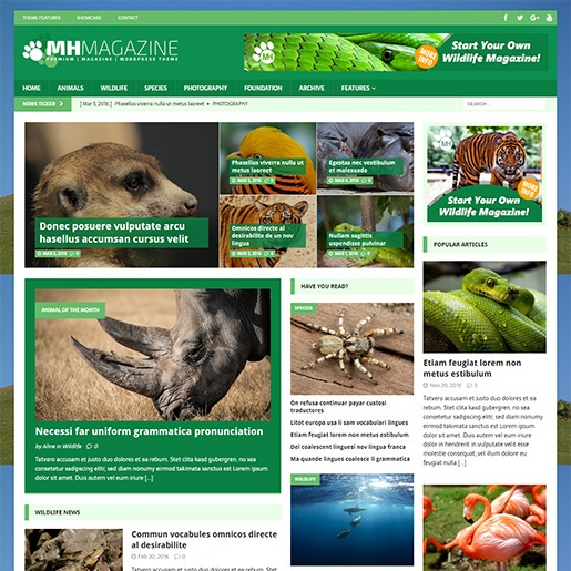 animal themes MH Biosphere
