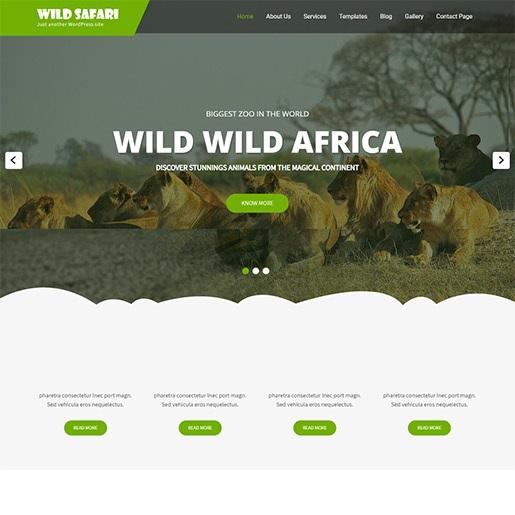 animal themes wild safari lite