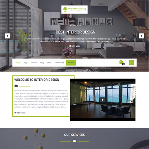 architect wordpress themes - VW interior