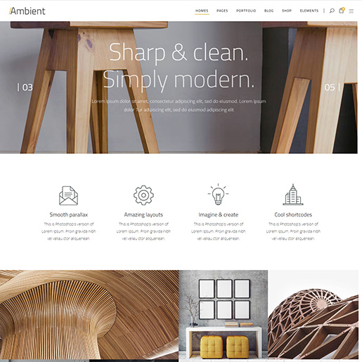 architect wordpress themes - ambient