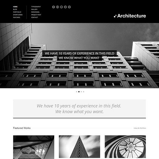 architect wordpress themes - architecture