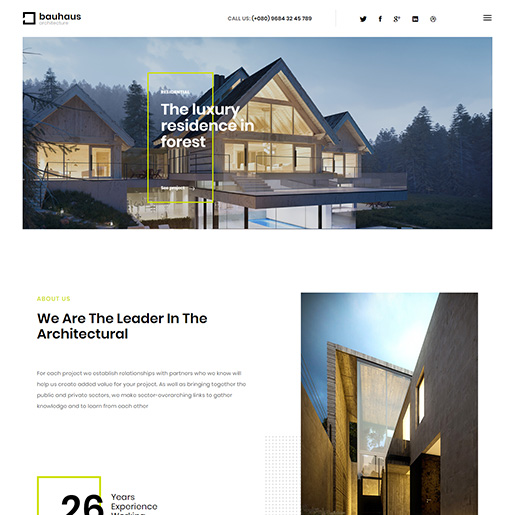 architect wordpress themes - bauhaus