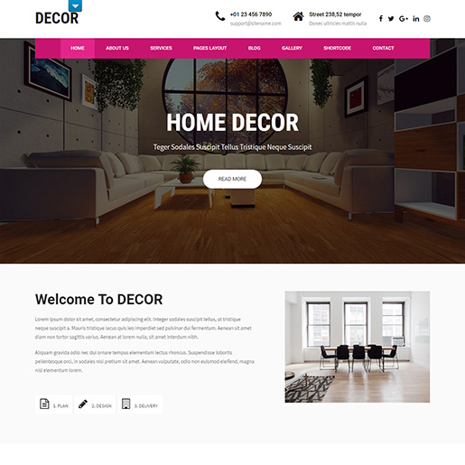 architect wordpress themes - decor lite