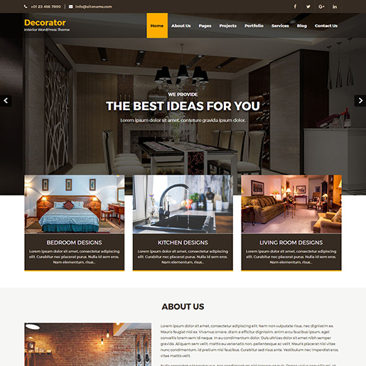 architect wordpress themes - decorator