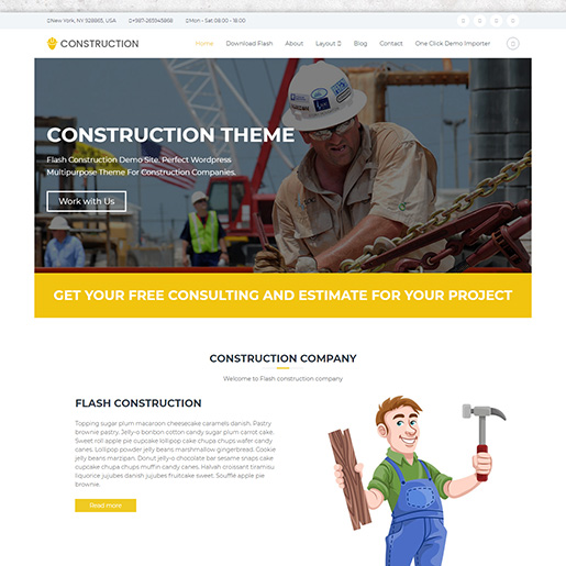architect wordpress themes - flash