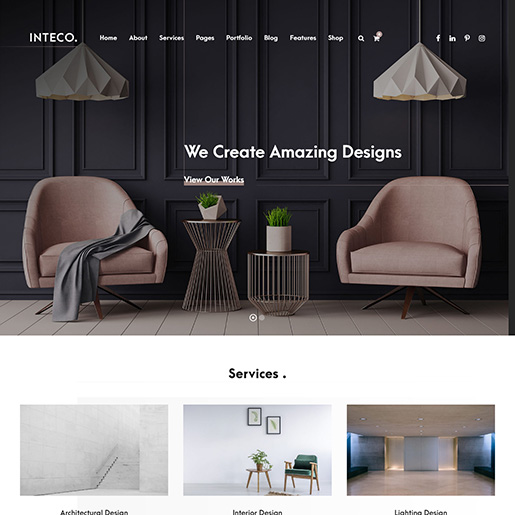 architect wordpress themes - inteco
