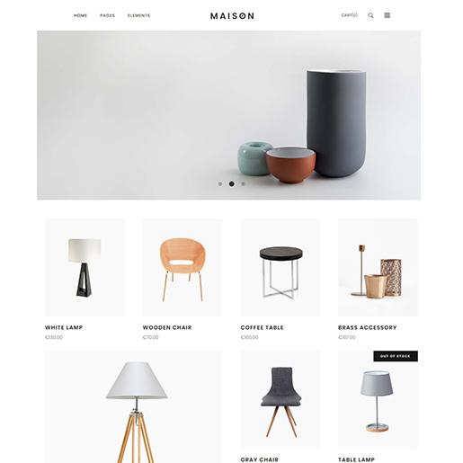 architect wordpress themes - maison