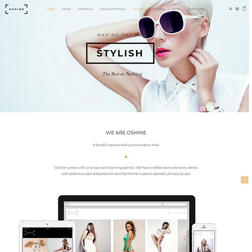 architect wordpress themes - oshine