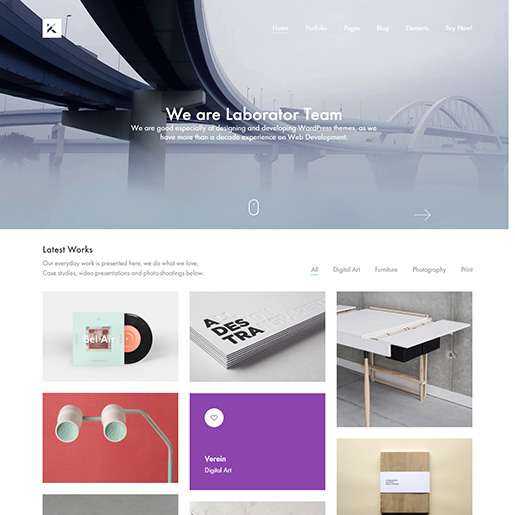 architecture wordpress themes - kalium