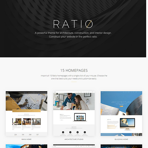 architecture wordpress themes - ratio