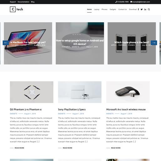 cenote wordpress drone themes