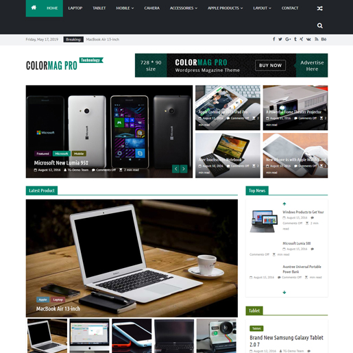 colormag wordpress drone themes