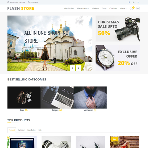 flash wordpress drone themes