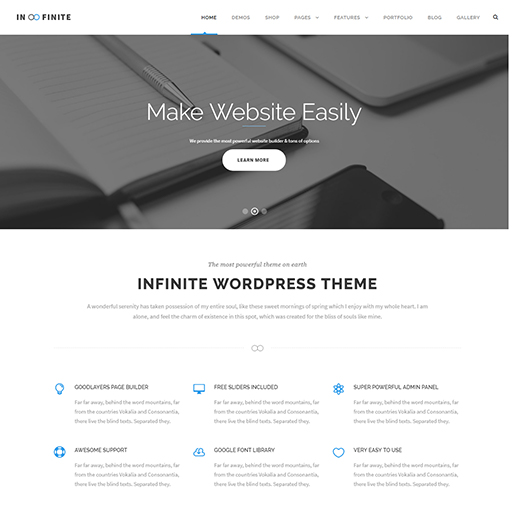 infinite -architect wordpress theme