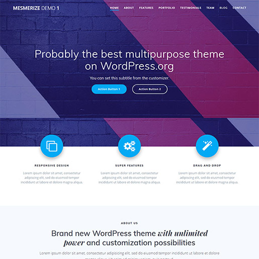 mesmerize-professional-wordpress-theme