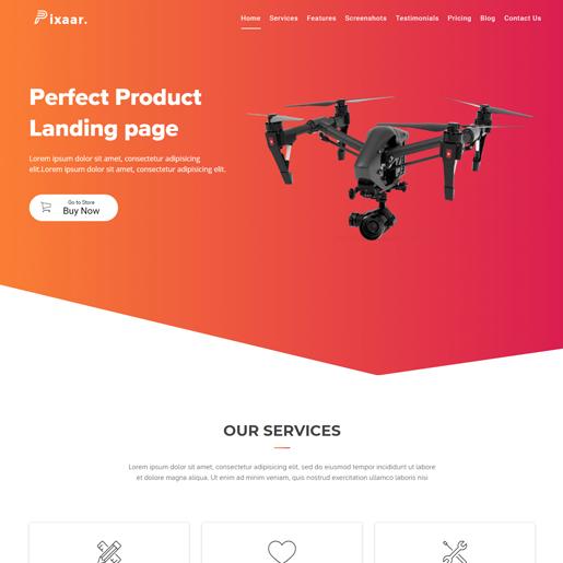 pixaar wordpress drone themes