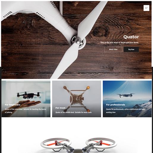 quator wordpress drone themes
