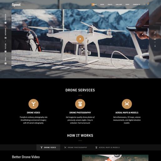 spool wordpress drone themes