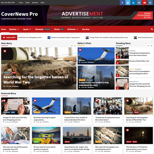 CoverNews Best Premium Responsive WordPress Theme