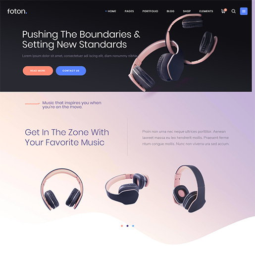 Foton Single Product WordPress Theme