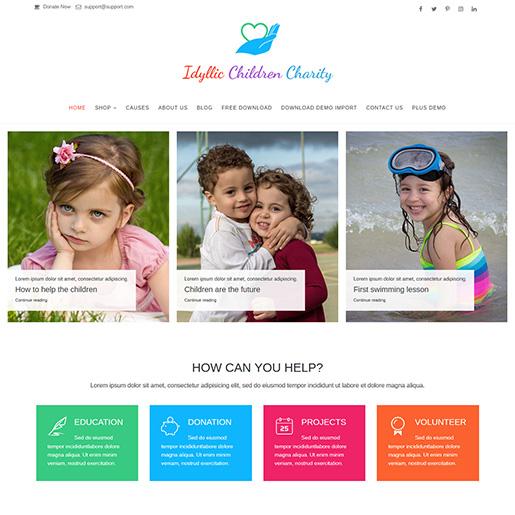 Idyllic-WordPress-Charity-Theme