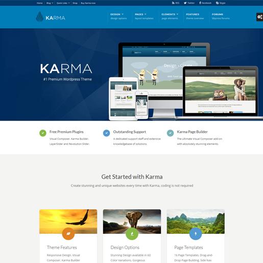 KARMA premium responsive wordpress themes