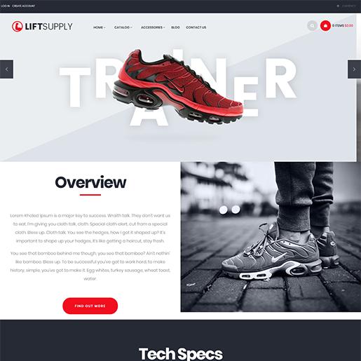 Lift Supply Single Product WordPress Theme