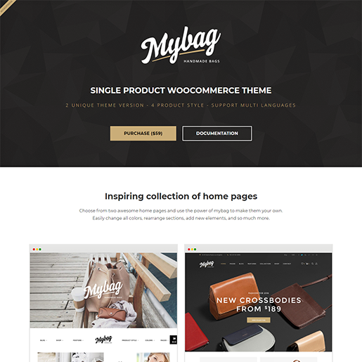 My Bag Single WordPress Themes