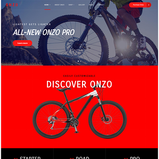 Onzo Single Product WordPress Theme
