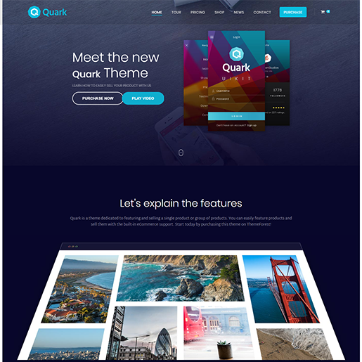 Quark Single Product WordPress Themes